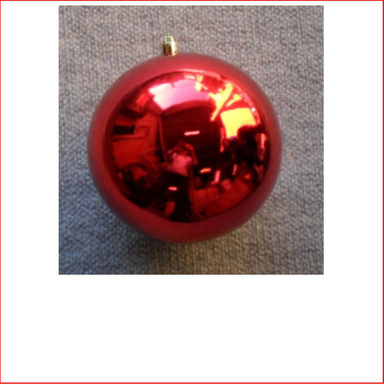 150mm Christmas Bauble - Red - Wired Glossy