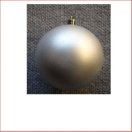 150mm Christmas Bauble - Silver - Wired Matte