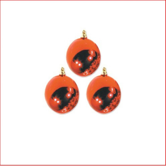 300mm Christmas Bauble - Red - Wired Glossy, sold individually