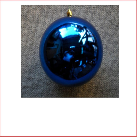 50mm Christmas Bauble - Blue - Wired Glossy