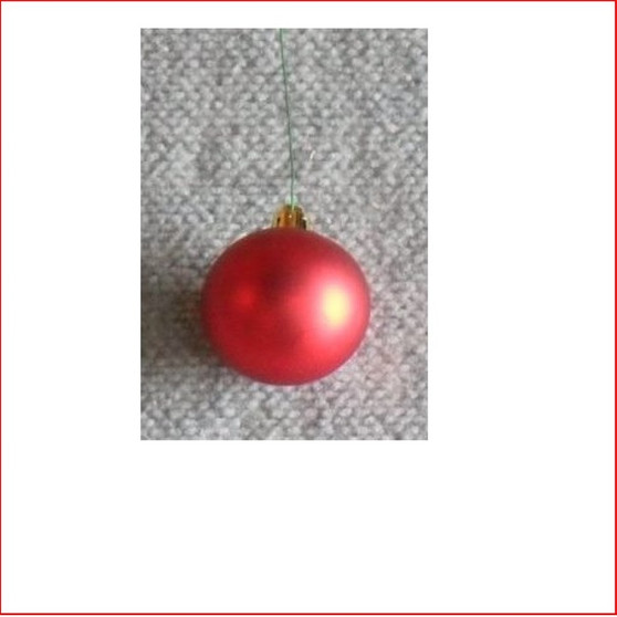50mm Christmas Bauble - Red - Wired Matte