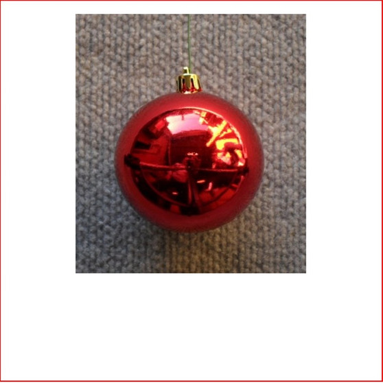 70mm Christmas Bauble - Red - Wired Glossy