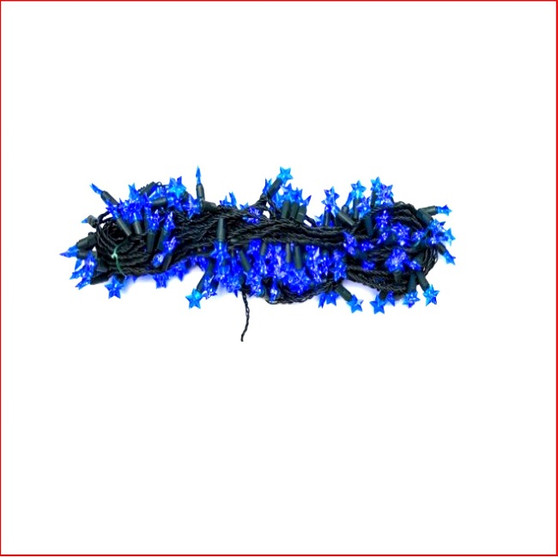 160 Blue Led Star Shaped String Lights, beautiful led blue novelty star shaped christmas tree string lights. A static function only available.