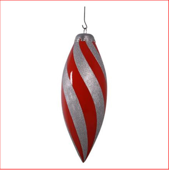 The Polyresin Christmas Finial Drop Red and Silver 4.5ft is a beautiful hanging product for your Christmas display. A large hanging finial that will lift your Christmas display to a more elegant level with a traditional colour theme of red and silver for a corporate Christmas with plenty of bling.