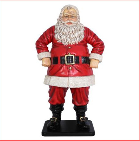 Poly-resin Jolly Santa 4ft is a beautiful traditional looking Santa who is equally at home indoors or out.