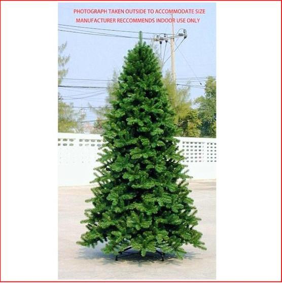 Scandia Spruce 3.05m Dark Green Hinged Christmas Tree