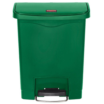 Rubbermaid Slim Jim 30L Front Step On Resin Green