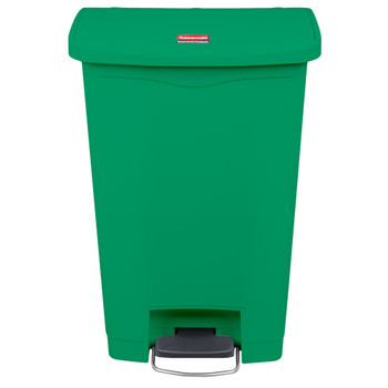 Rubbermaid Slim Jim 50L Front Step On Resin Green