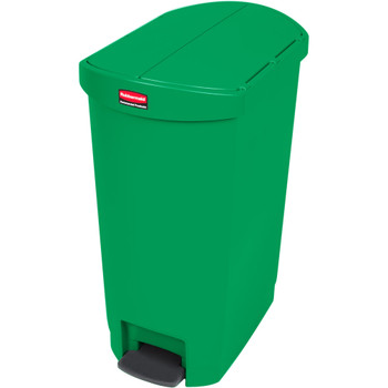 Rubbermaid Slim Jim 50L End Step On Resin Green