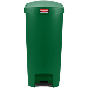 Rubbermaid Slim Jim 68L End Step On Resin Green
