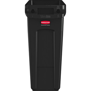 Rubbermaid Slim Jim With Venting Channels 60L - Black