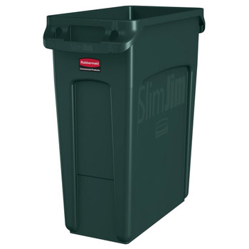 Rubbermaid Slim Jim With Venting Channels 60L - Green