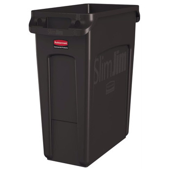 Rubbermaid Slim Jim With Venting Channels 60L - Brown