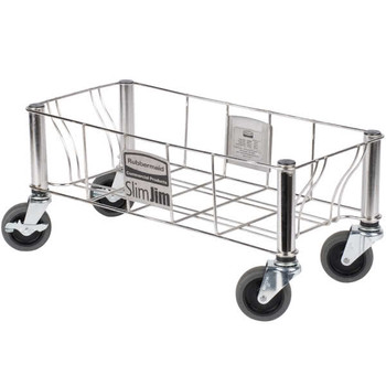 Rubbermaid Slim Jim Stainless Steel Single Dolly