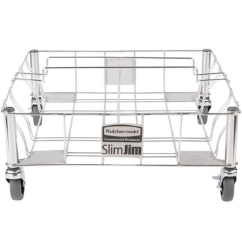 Rubbermaid Slim Jim Stainless Steel Double Dolly