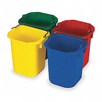 Rubbermaid Colour-Coded Buckets 5 L, Set Of 4 Colours