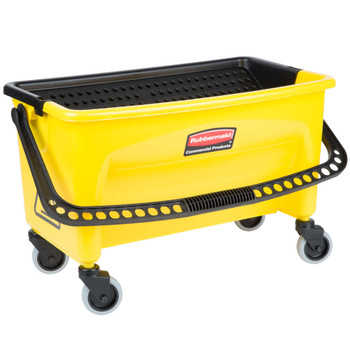 Rubbermaid Press Wring Bucket With Wheels