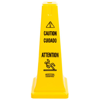 Rubbermaid Safety Cone - Multilingual Caution And Wet Floor Symbol - 65cm