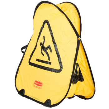 Rubbermaid Folding Safety Cone - Wet Floor Symbol