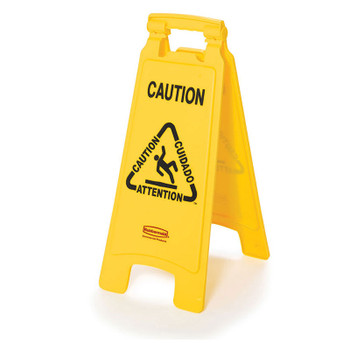 Rubbermaid 2 Sided Floor Sign - Multilingual Caution Wet Floor Symbol