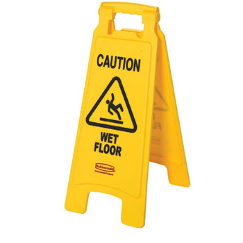 Rubbermaid 2 Sided Floor Sign - Caution Wet Floor Symbol