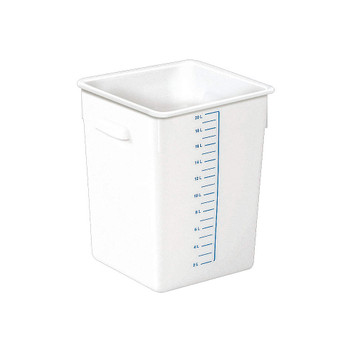 Rubbermaid Space Saving Container 20.8 L - White - Rubbermaid FG9F0900WHT
