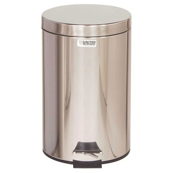 Rubbermaid Small Pedal Bin (With Plastic Liner) 13.2 L - Silver