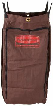 Rubbermaid 25-Gal. Housekeeping Cart Canvas Vinyl Lined Bag