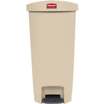 Rubbermaid Slim Jim 50L Resin End Step Step-On Beige