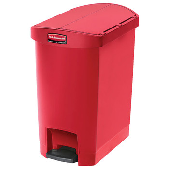 Rubbermaid Slim Jim 30L Resin End Step Step-On Red