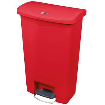 Rubbermaid Slim Jim 50L Resin Front Step Step-On Red