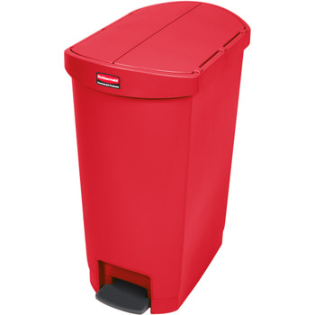 Rubbermaid Slim Jim 50L Resin End Step Step-On Red