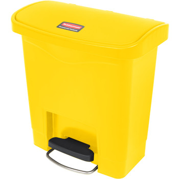 Rubbermaid Slim Jim 15L Resin Front Step Step-On Yellow