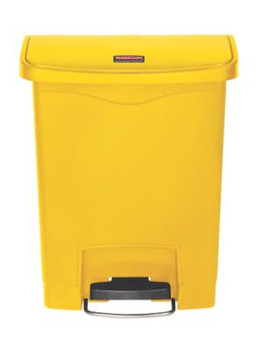 Rubbermaid Slim Jim 30L Resin Front Step Step-On Yellow