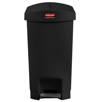 Rubbermaid Slim Jim 30L Resin End Step Step-On Black