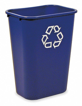 Rubbermaid Rectangular Wastebasket 39 L - Blue