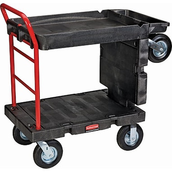 Rubbermaid Convertible Platform Truck With Pneumatic Wheels