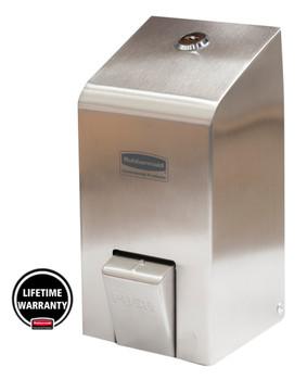 1852622 - Rubbermaid Spray Soap Dispenser - 400ml - Stainless Steel - Lifetime Manufacturer's Warranty