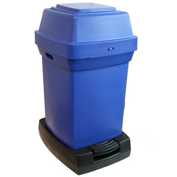 Rubbermaid Nap2 65L Capactiy Pedal-Operated Nappy Bin - Blue - 770X410X470mm