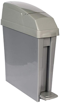Rubbermaid San1Ped 20L Capacity Pedal-Operated Bin - Grey - 580X490X155mm