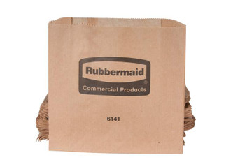 Rubbermaid Waxed Bags F. Napkin Recept.- 50 Bags/Bundle; 250 Per Carton