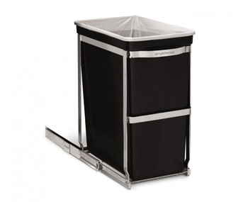 simplehuman 30 Litre Under counter pull-out bin fits into 300mm Cabinet