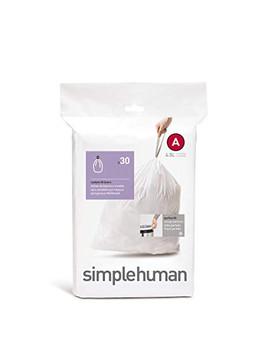 simplehuman Custom Fit Bin Liner Code A, Pack Of 30