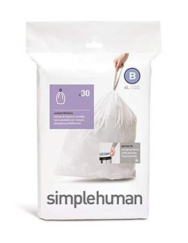 simplehuman Custom Fit Bin Liner Code B, Pack Of 30