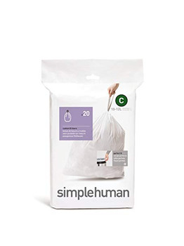simplehuman Custom Fit Bin Liner Code C, Pack Of 20