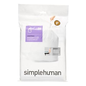 simplehuman Custom Fit Bin Liner Code F, Pack Of 20 - simplehuman CW0165