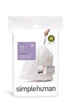 simplehuman Custom Fit Bin Liner Code R, Pack Of 20