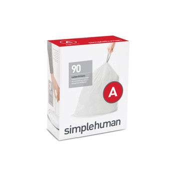 simplehuman Custom Fit Bin Liner Refill Pack Code A, 3 X Pack Of 30 (90 Liners)