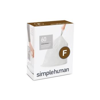 simplehuman Custom Fit Bin Liner Refill Pack Code F, 3 X Pack Of 20 (60 Liners)