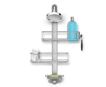 simplehuman Adjustable Shower Caddy Stainless Steel/Anodised Aluminium